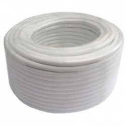 Rollo de cable coaxial color blanco