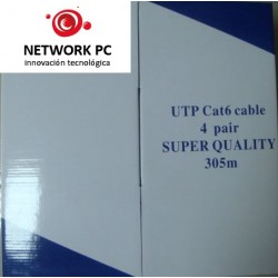CABLE DE RED UTP CAT 6E POR CAJA 305M