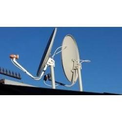 Instalacion satelital 3 punto de tv (sks)