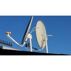 Instalacion satelital 2 puntos de tv (IKS)