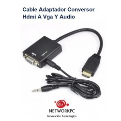 Cable Adaptador Conversor Hdmi A Vga Y Audio