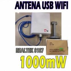 Tarjeta usb high power externo 1000 mW